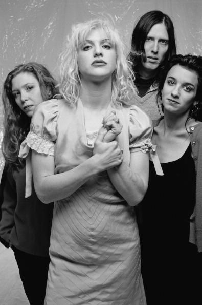 Kristen Pfaff on the right, played bass with hole and died mysteriously similarly to Kurt Cobain who was rumored to be her lover!?