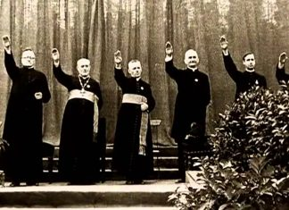 priests nazi salute positive christianity