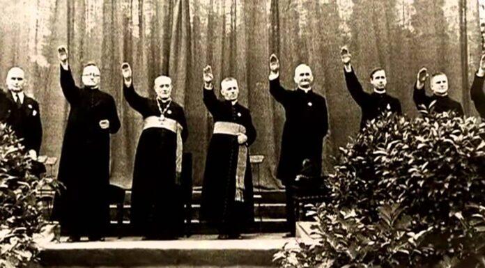 priests nazi salute positive christianity