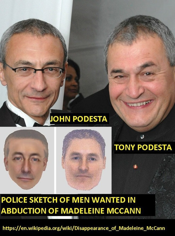 John and Tony Podesta eerily match the photo fit description of the abductees of Madeleine McCann in 2007